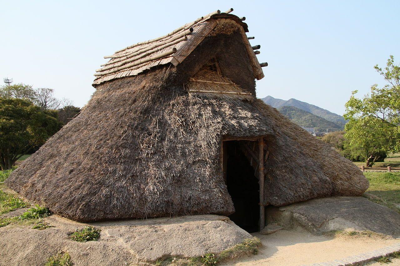 Pit House Of Kofun Period Of The Restored Ayaragi Township Ruins