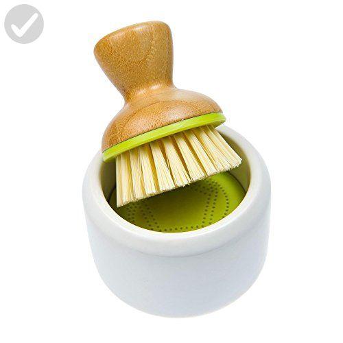 full circle kitchen brush black hutch bubble up ceramic soap dispenser dish set white gadgets amazon partner link