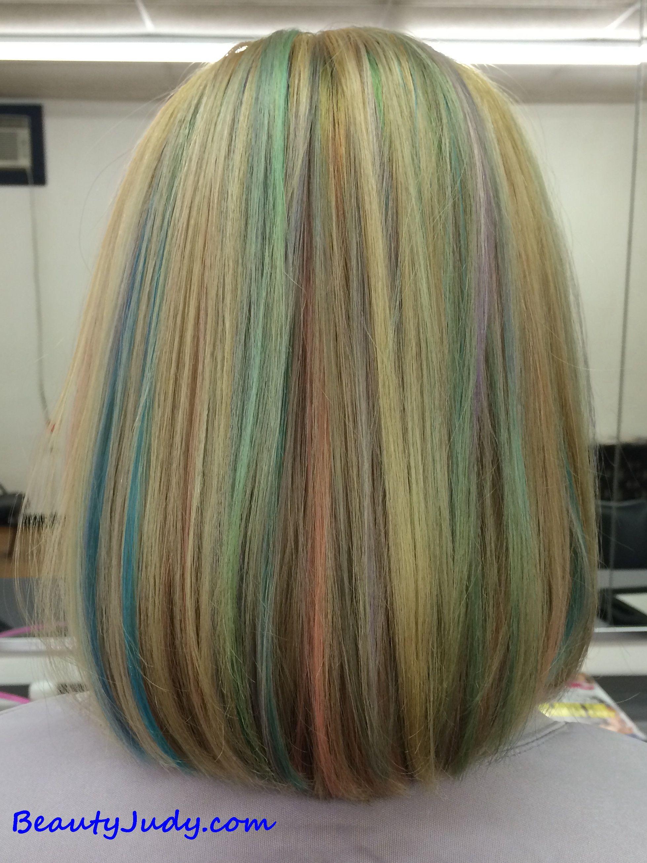 Pravana Pastel Highlights On Blonde Hair Hair Dids Pinterest