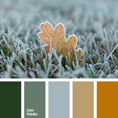 brown color, dark green, gray, green, light green, oak leaf color, shades of green, shades of winter, winter color, winter colors, winter palette 2016.