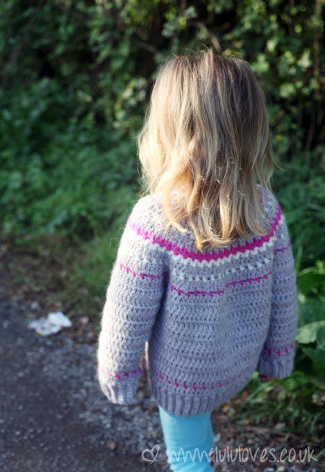 Crochet Fair Isle Cardigan - Lululoves: Pattern by Ball Hank N ...