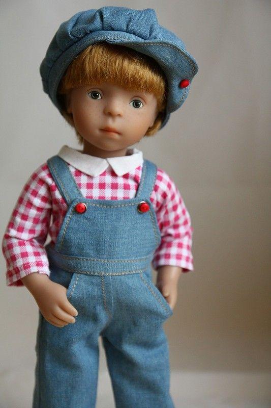 Джинсовое настроение для озорных Minouche / Sylvia Natterer, Сильвия Наттерер. Коллекционно-игровые куклы / Бэйбики. Куклы фото. Одежда для кукол