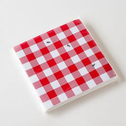Paper Plates Napkins \u0026 Partyware - Gingham Paper Napkins With Ants Set of 20 & Gingham Paper Napkins With Ants Set of 20 | picnic supplies ...
