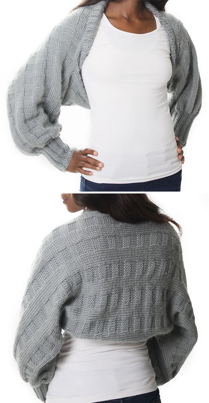 Knitting Pattern for Easy Honor Shrug | Sweaters | Pinterest | Tejido