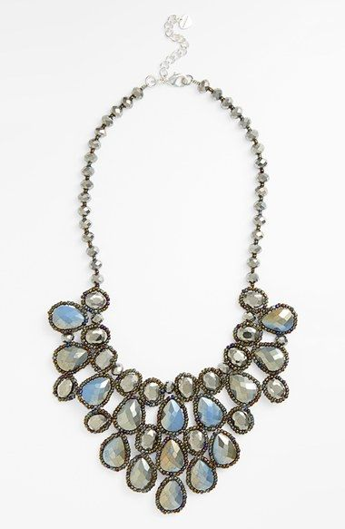 Nakamol Design Beaded Crystal Statement Necklace