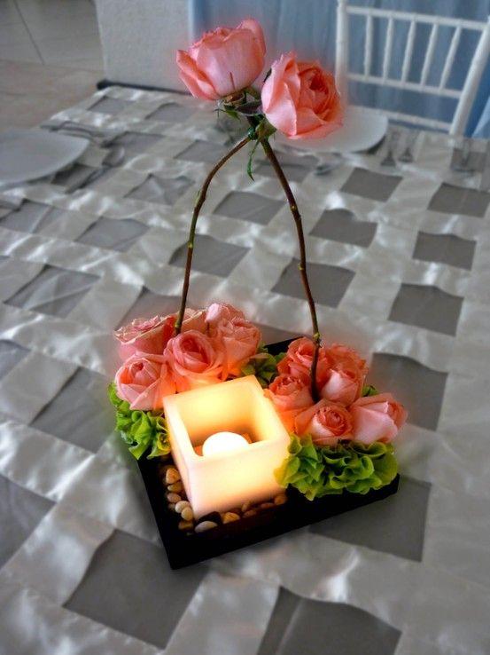 Centro de mesa para boda ALUZZA curiosidades Pinterest Centros