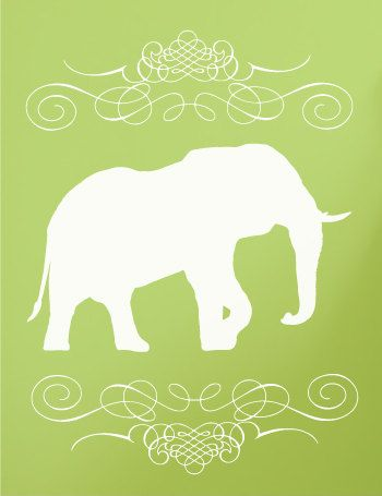 Elephant Wall Decal by luxeloft on Etsy