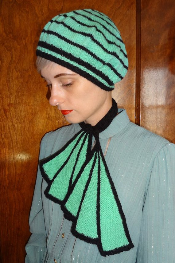 Style Knitting Patterns : Vintage 1930s Style Trompe Loeil Scarf Knitting Pattern - The Volstead b...