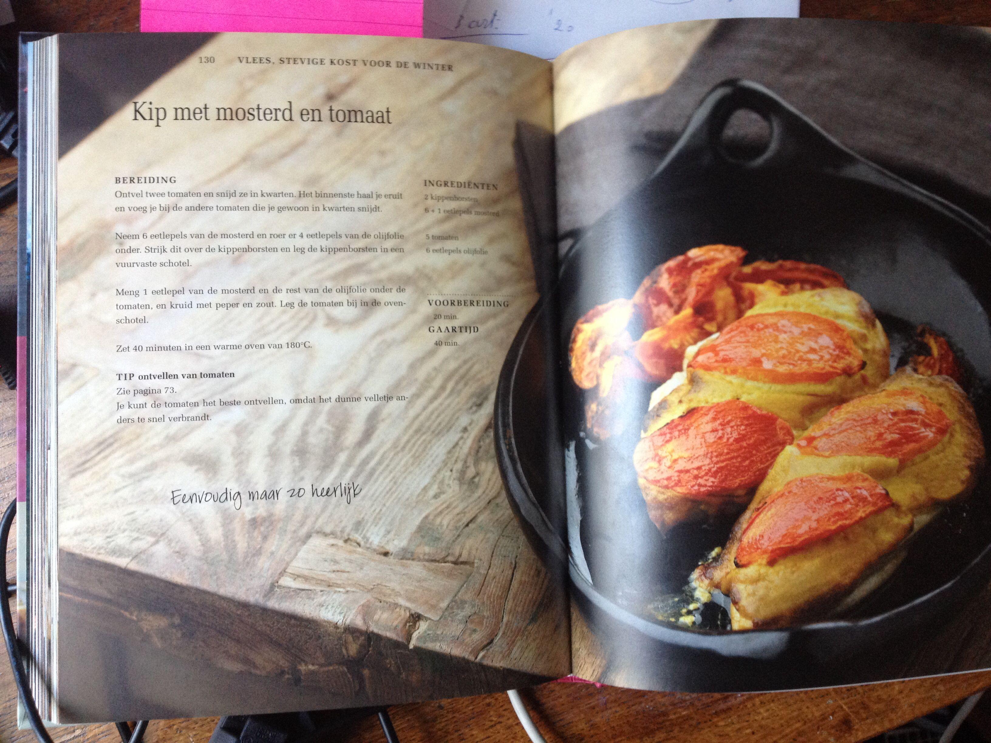 Mijn Pure Keuken : Kip tomaat mosterd pascale naessens mijn pure keuken 2 p. 130