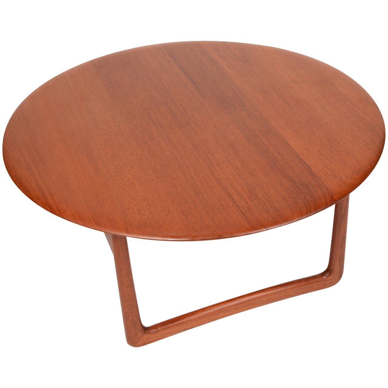 Solid Teak Danish Modern Round Coffee Table By Povl Dinesen For France And Son Round Coffee Table Modern Coffee Table Table [ 1280 x 1280 Pixel ]