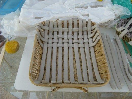 woven pottery baskets #slabpottery