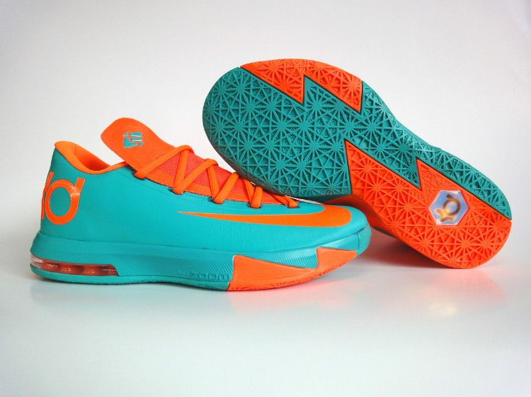 new product ef2e1 109db Cheap Nike KD 6 Shoes Orange Green