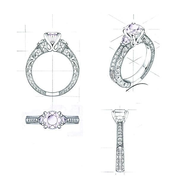Ring For Customer Part 30 Ring Sketch Jewelry Design Drawing