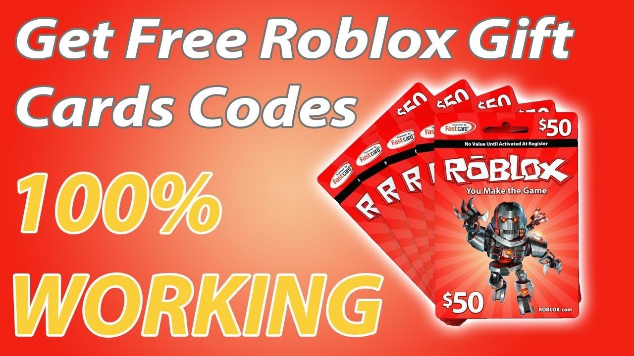 How To Get Free Roblox Gift Cards Codes Roblox Codes 2019