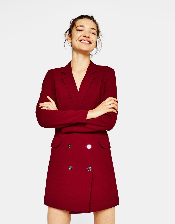 Traje de chaqueta rojo bershka