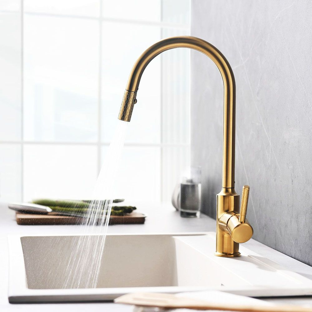 Pull Out Kitchen Faucet Modern Kitchen Sink Tap Single Handle Black Gold Modern Kitchen Faucet Modern Kitchen Sinks Pull Out Kitchen Faucet