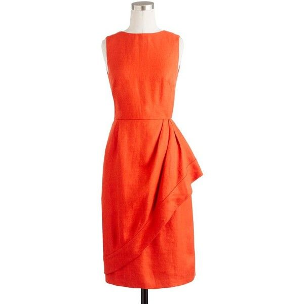 JCrew, orange dress