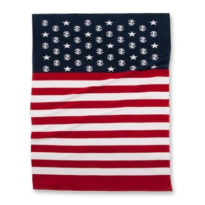 Izod Stars And Stripes Beach Towel In Blue White Red