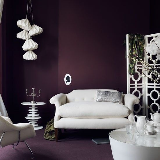 Dramatic purple living room   Dcor   Pinterest   Colores ...