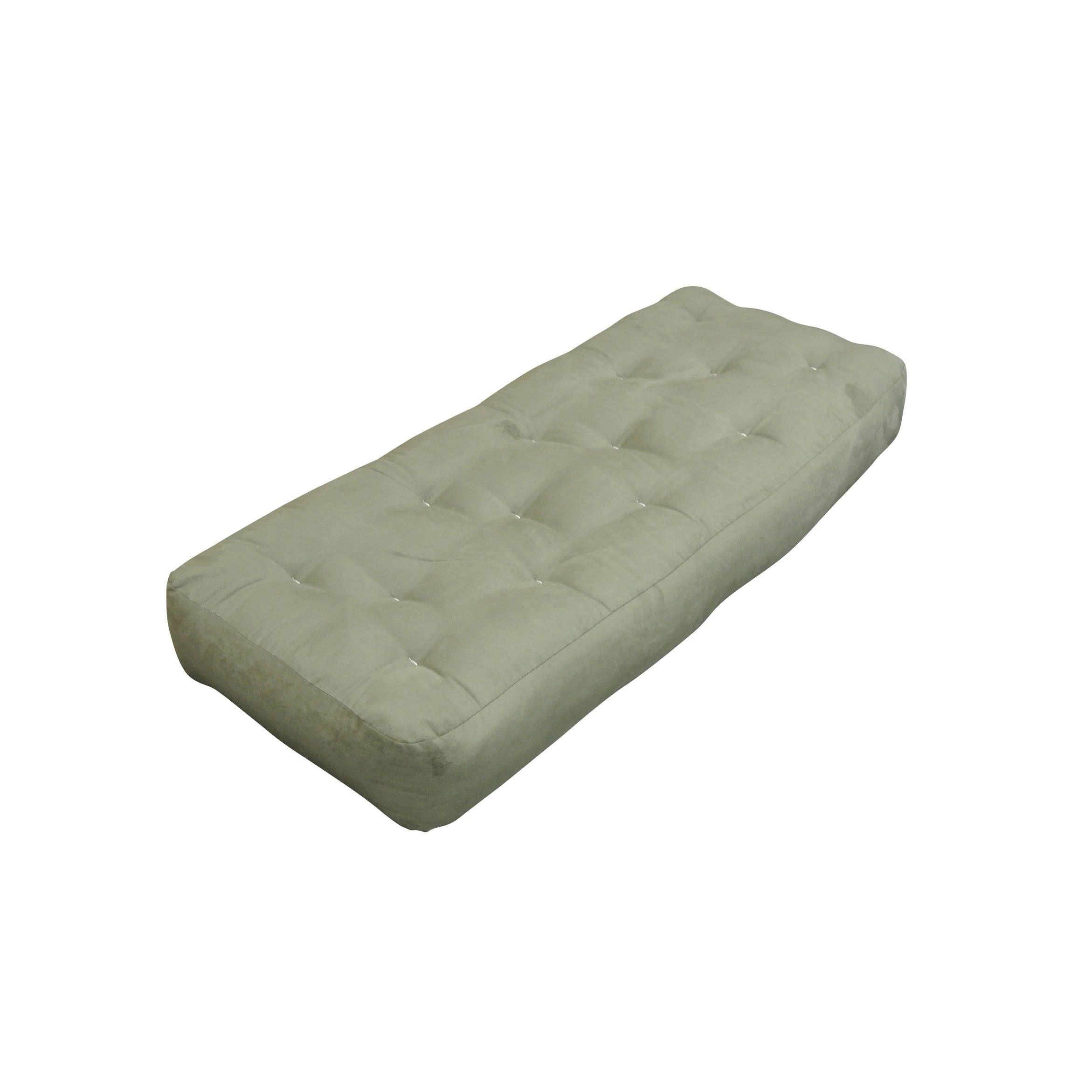Feathertouch Ii Sage Microfiber 9 Inch Loveseat Ottoman Size Futon Mattress Green
