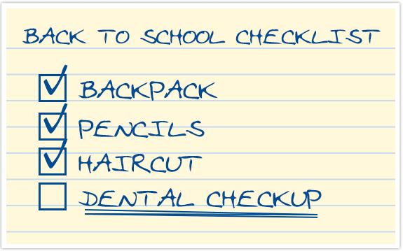 Image result for back to school dental check up
