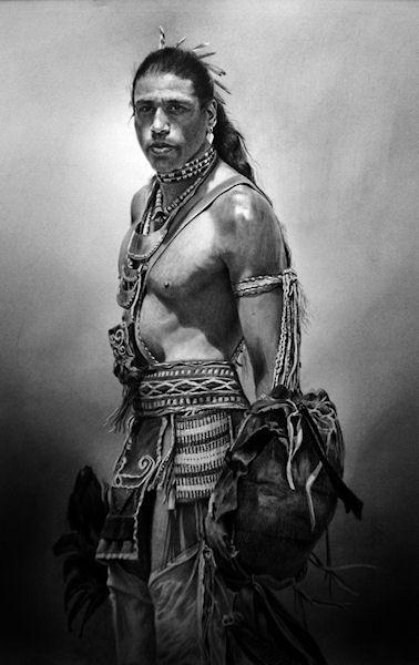 I Strike First 17 X 10 Graphite On Bristol Sold Http Www Mariadangelo Com Native American Artwork Native American Men American Indian Art