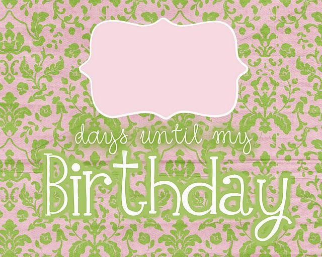 Free birthday countdown printables