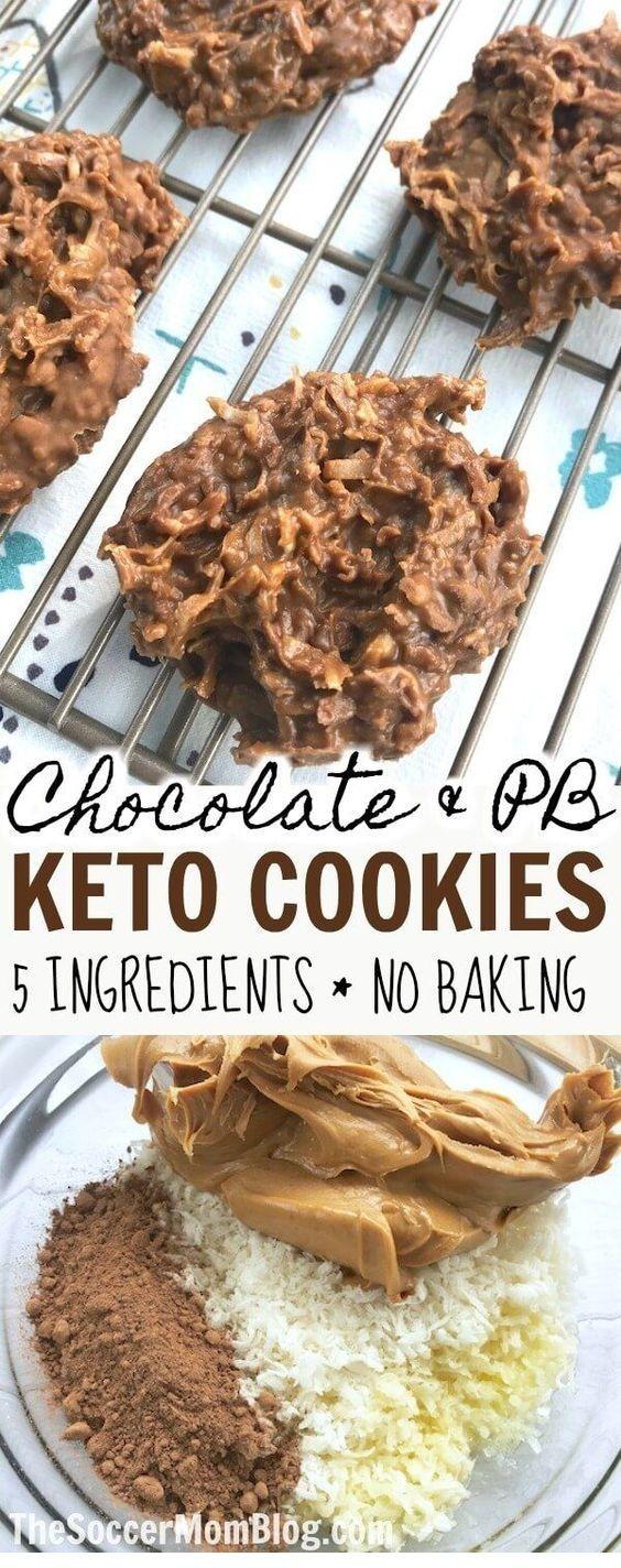 Chocolate & Peanut Butter Keto No Bake Cookies – Food Restock