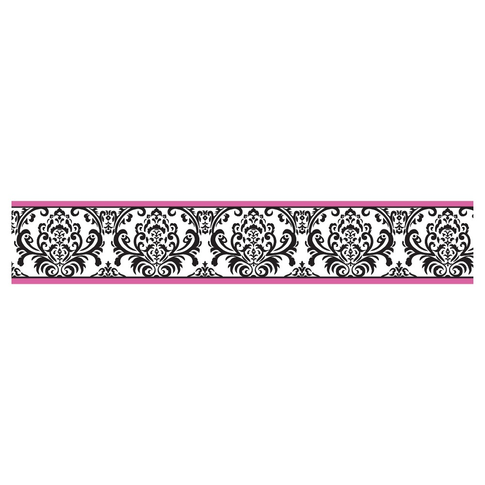 Sweet Jojo Designs Gray White Diamond Baby Kids Wall Paper Border Wallcovering