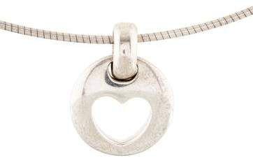 23c37db42 Tiffany & Co. Vintage Stencil Heart Pendant Necklace #Stencil#Vintage# Tiffany