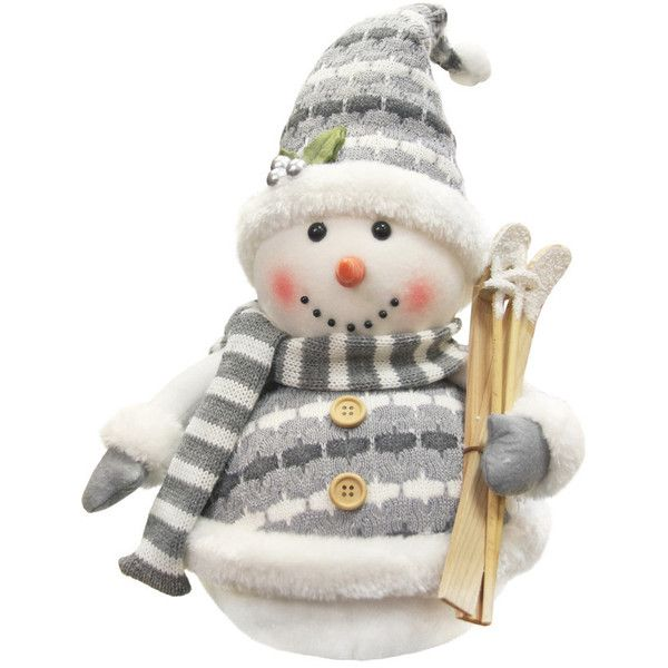 Alpine Chic Sparkling Snowman With Skis Christmas Decoration 35 Liked On Polyv Holiday Decor Christmas Snowman Christmas Decorations Christmas Decorations