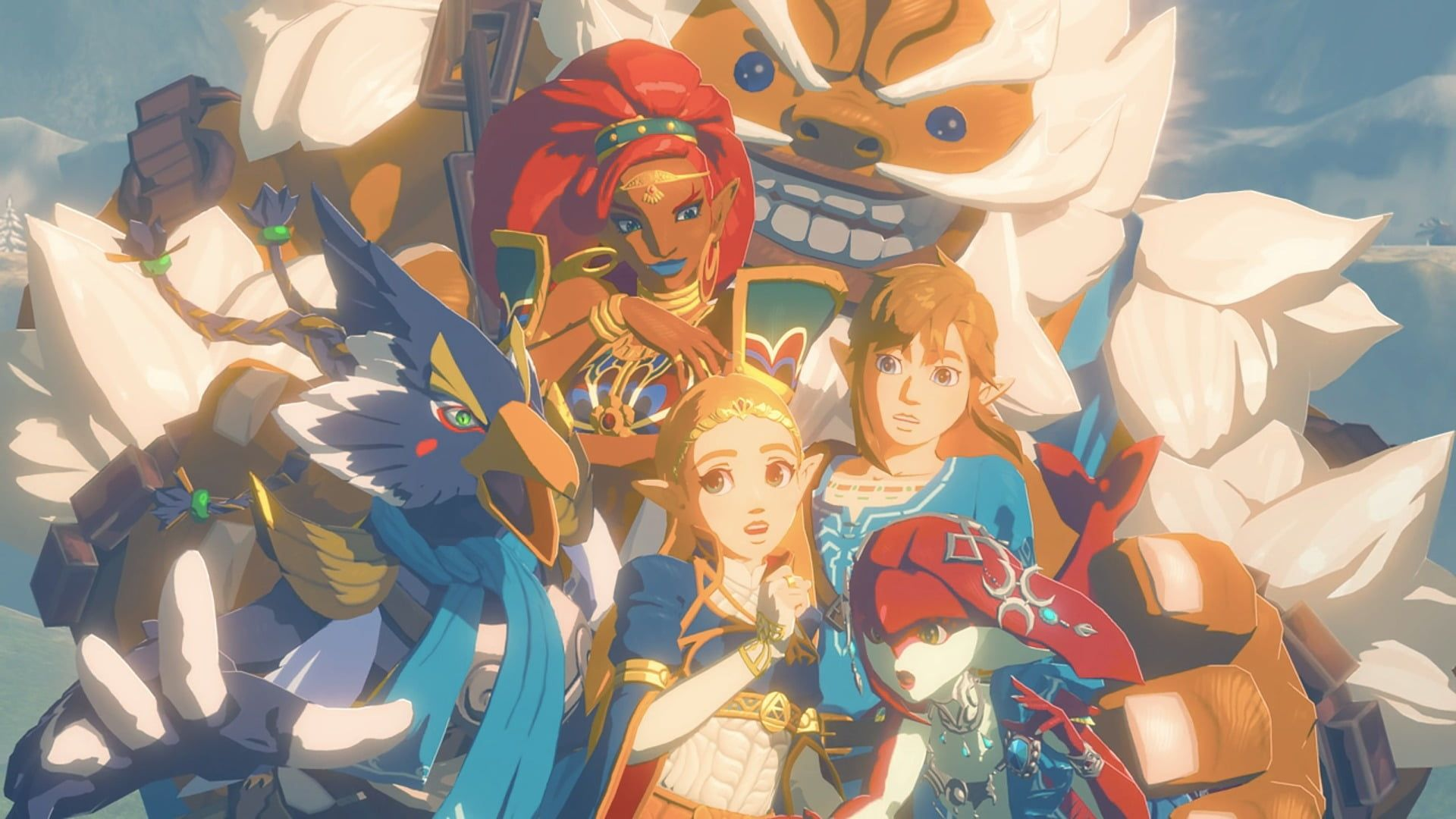 Anime Character Wallpaper Botw The Legend Of Zelda Breath Of The Wild The Champions Ballad Mipha The L Legend Of Zelda Character Wallpaper Anime Characters
