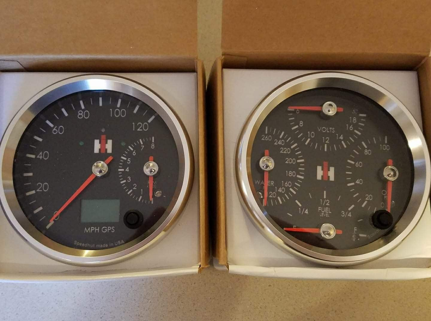 Digital Guages By Speedhut For 80 800 International Scout Scout Truck Truck Interior
