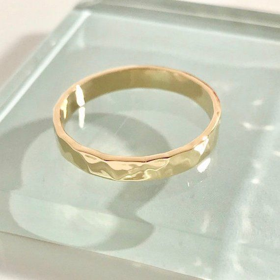 10k Gold Ring 10k Wedding Ring 10k Band Ring 10k Rectangle Ring 10k Yellow Gold Wedding Ring 10k Ham Gold Wedding Rings Gold Rings Wedding Rings
