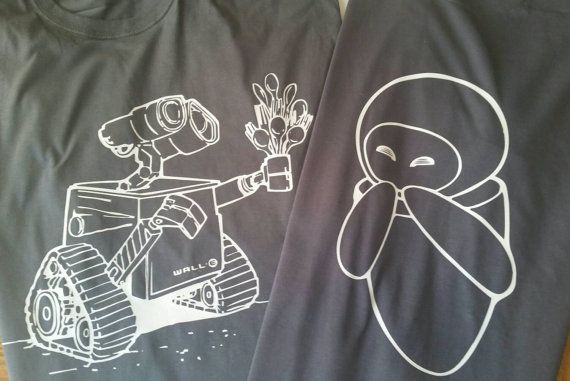 Matching Disney Couple Shirts / Vacation Wall-E and Eve Shirts - Perfect for Wedding Gift, His and Hers, Family Vacation, Just Married