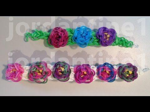 Pulsera escultura de flores