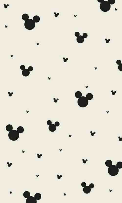 Wallpapers Mickey Mouse Ears Cute Sweet Pattern Print Disney