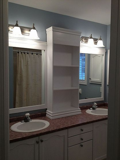 How To Make A Large Bathroom Mirror Look Designer Home Decor Extraordinary Bathroom Countertop Height Painting