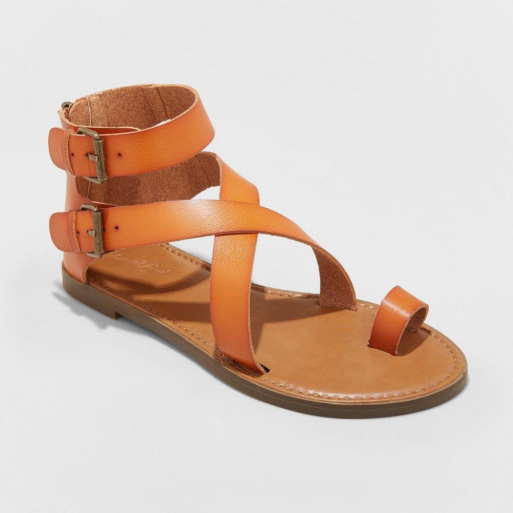 71adb5114bda Women s Maribella Wide Width Toe Wrap Gladiator Sandal - Universal Thread  Cognac (Red) 6W