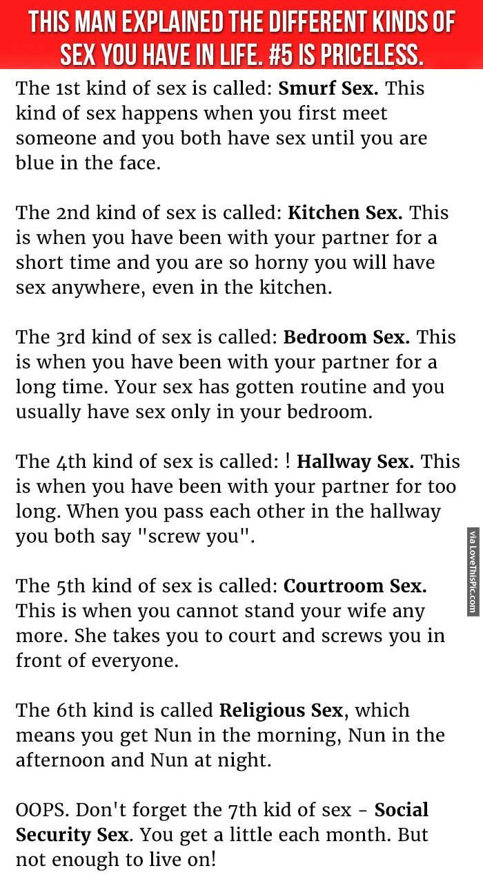 How many kinds of sex