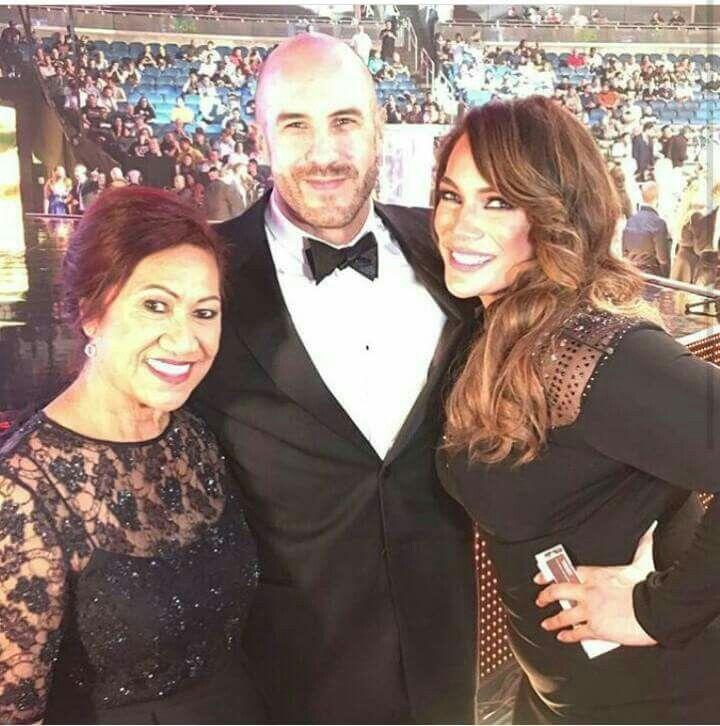 WWE Superstar Cesaro (Claudio Castagnoli) joins fellow WWE Superstar Nia Jax (Savelina Fanene) and her aunt… | The rock dwayne johnson, Wwe raw women, Wrestling wwe