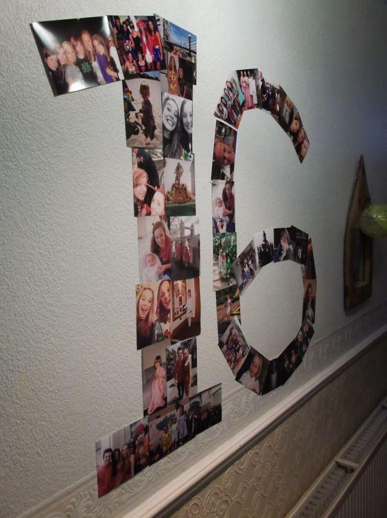 Sweet 16 Numeral Collage #sweetsixteen