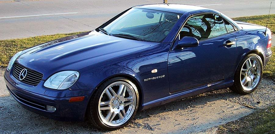 Pics and reference for an old skool modded 1999 slk230 for Mercedes benz slk230 kompressor