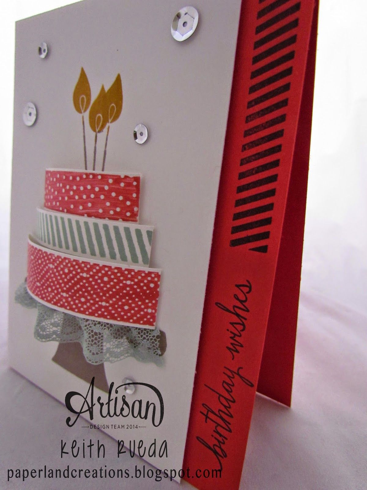 Paperland creations artisan blog hop build a birthday stampin up