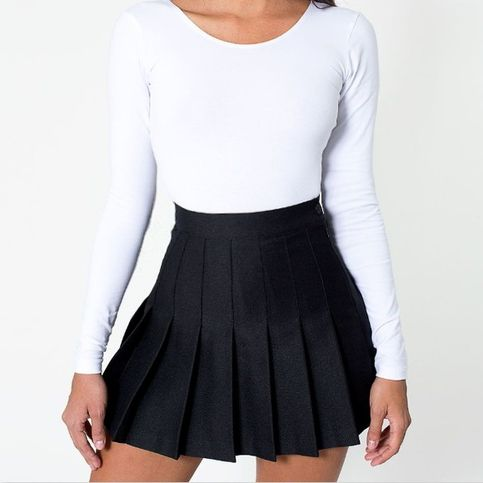 Black Pleated Tennis School Skirt American Apparel Tennis Skirt American Apparel Skirt Pleated Tennis Skirt