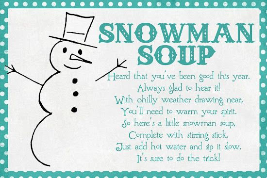 It is a photo of Snowman Soup Printable inside simple