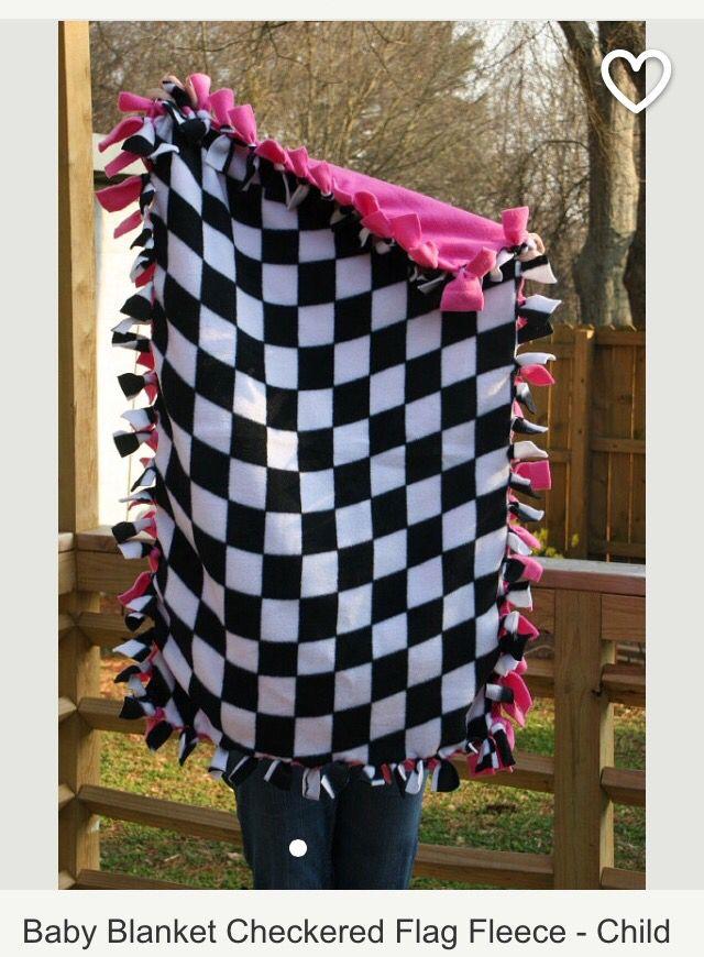 Checkered Flag Baby Blanket Racing Baby Motocross Baby Baby Blanket