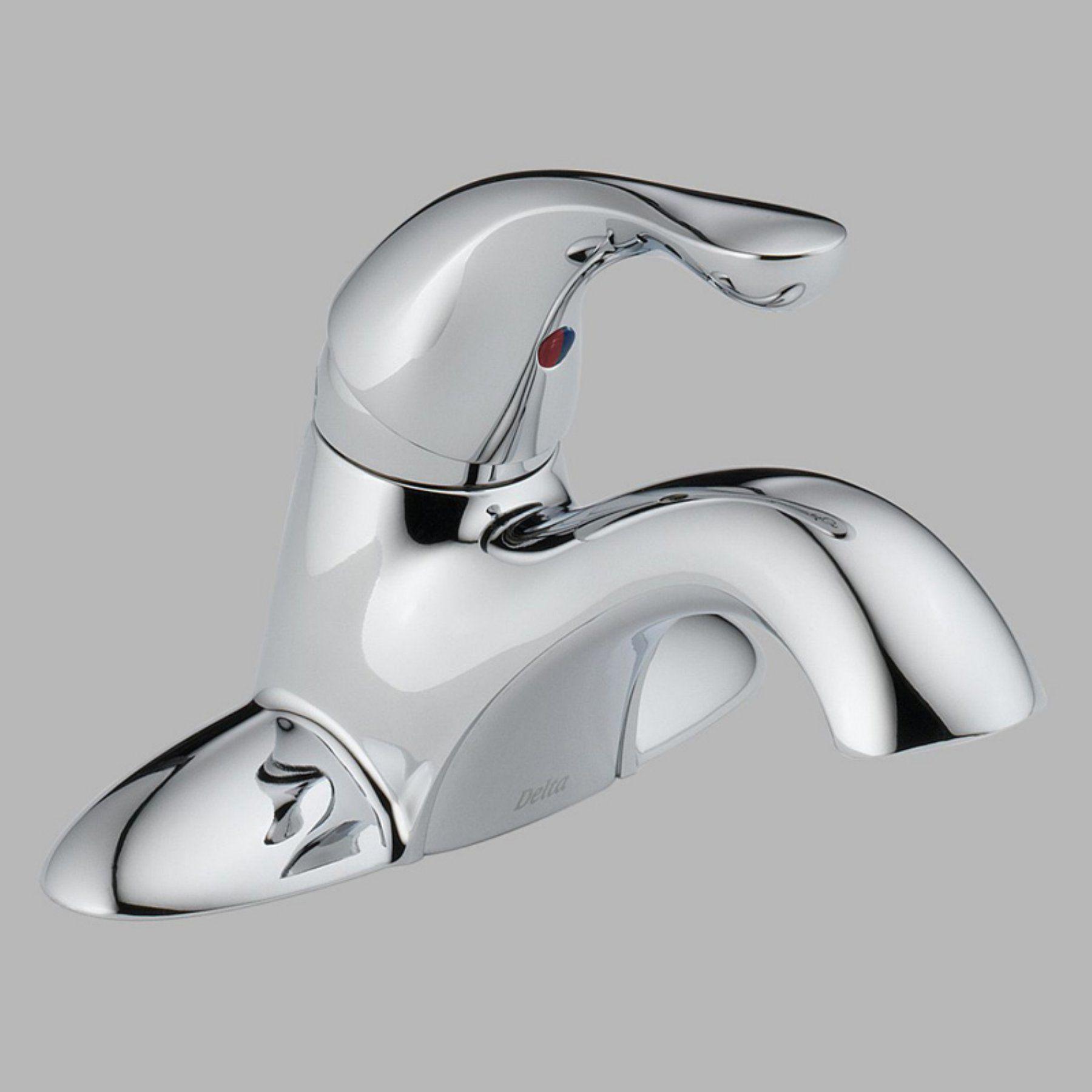 Delta Classic 500-DST Single Handle Centerset Bathroom Sink Faucet ...
