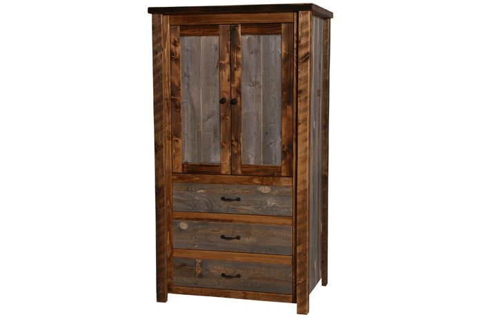 Attirant The Natural Barn Wood Armoire Is Crafted From Reclaimed Wood U0026 Dead  Standing Pine Timbers.