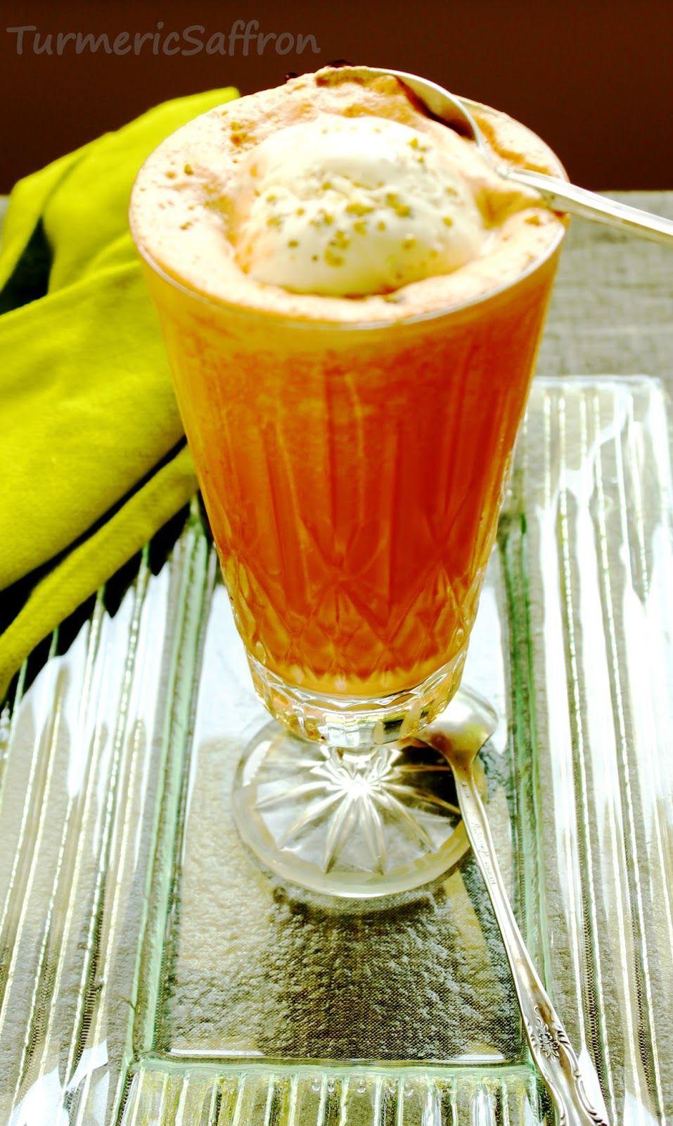 Ab Haveej Bastani Persian Carrot Juice And Saffron Ice Cream